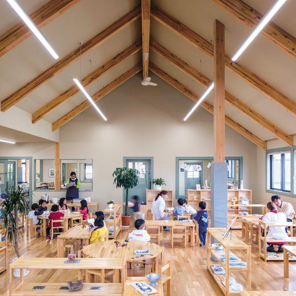 SE構法による保育園の事例1:大規模木造の準耐火建築物