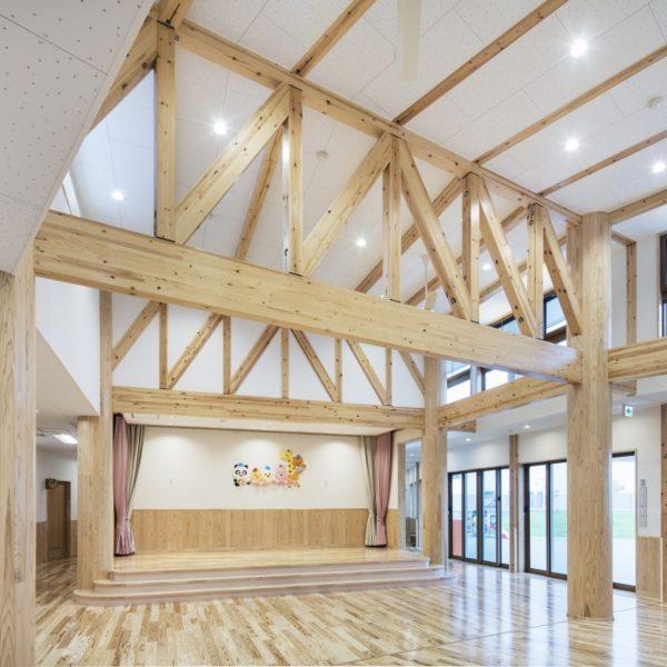 SE構法 木造 保育園 トラス構造