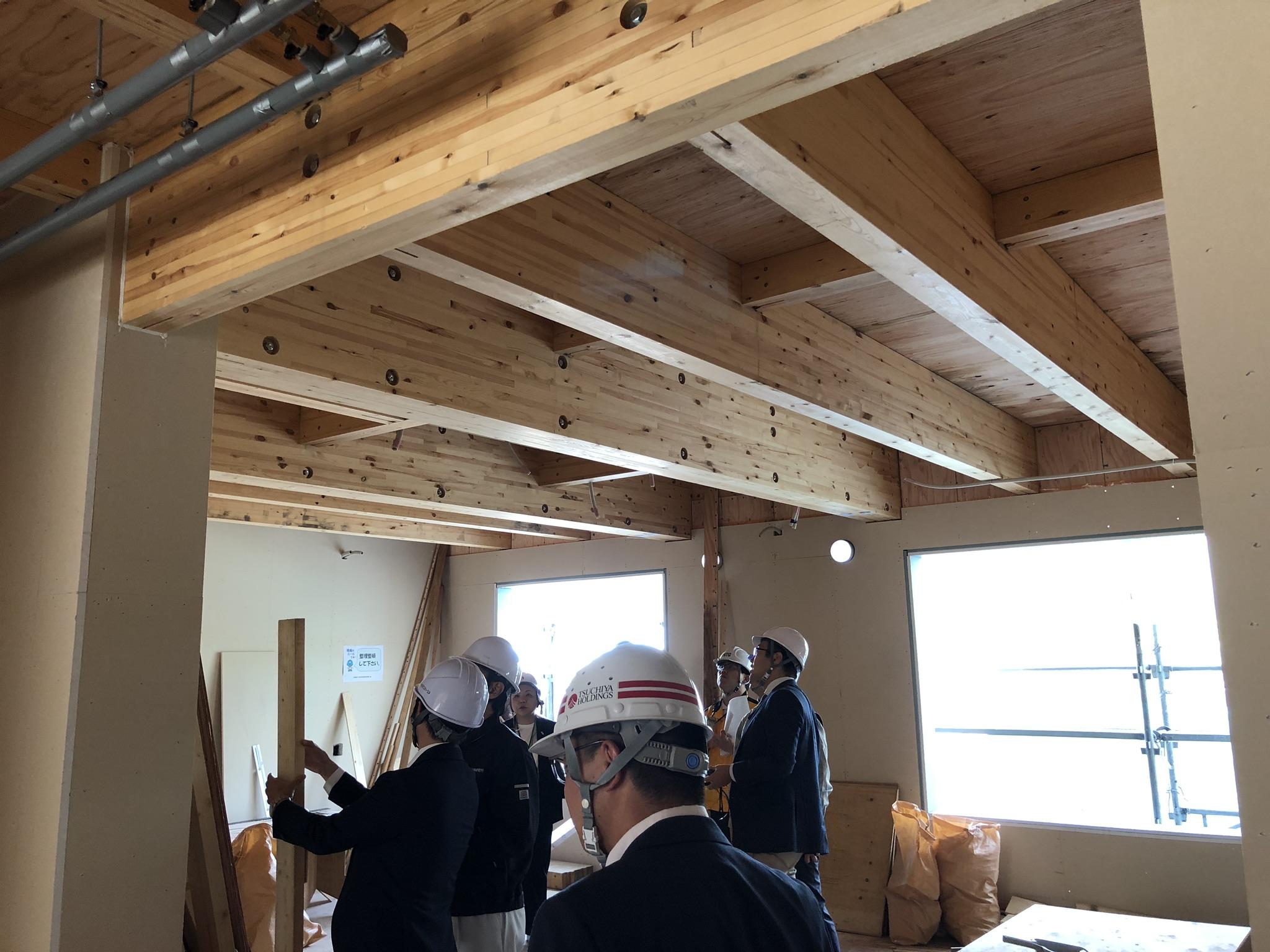 SE構法の大規模木造建築 構造見学会