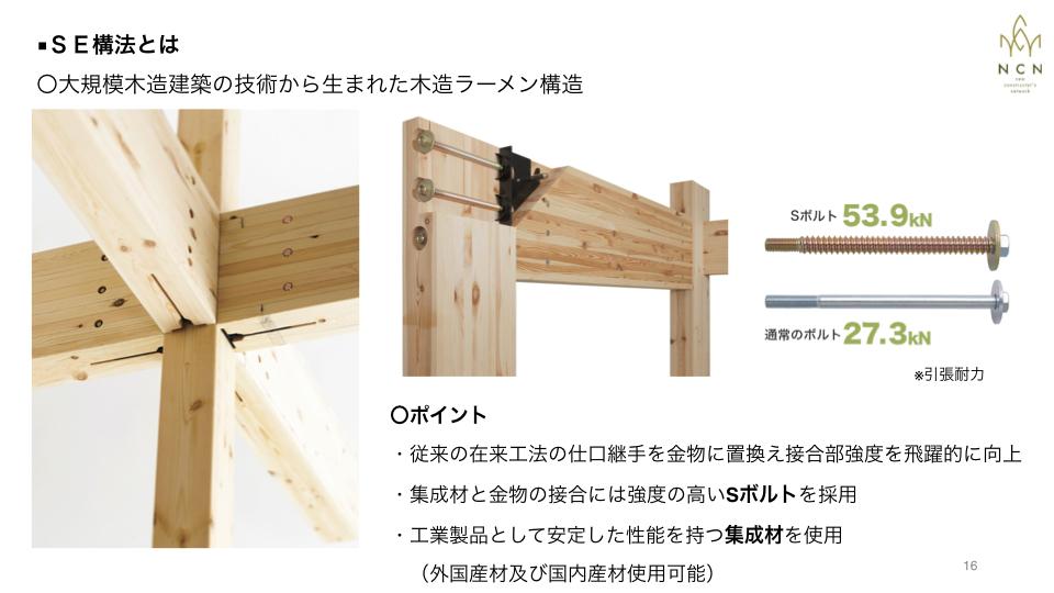 中大規模木造に最適なSE構法の強みとNCNのサービス
