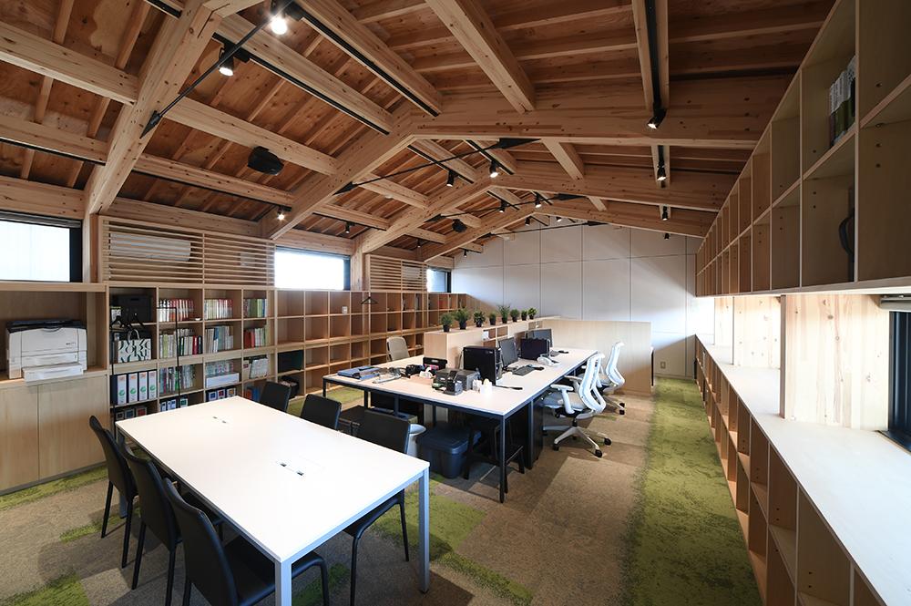 SE構法(混構造)の事務所事例「日新設計社屋」の構造設計の特徴