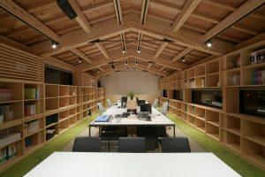 SE構法(混構造)の事務所の事例紹介「日新設計社屋」