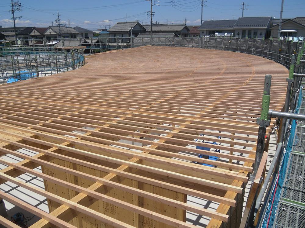 木造でも平面斜辺やR壁の設計が可能