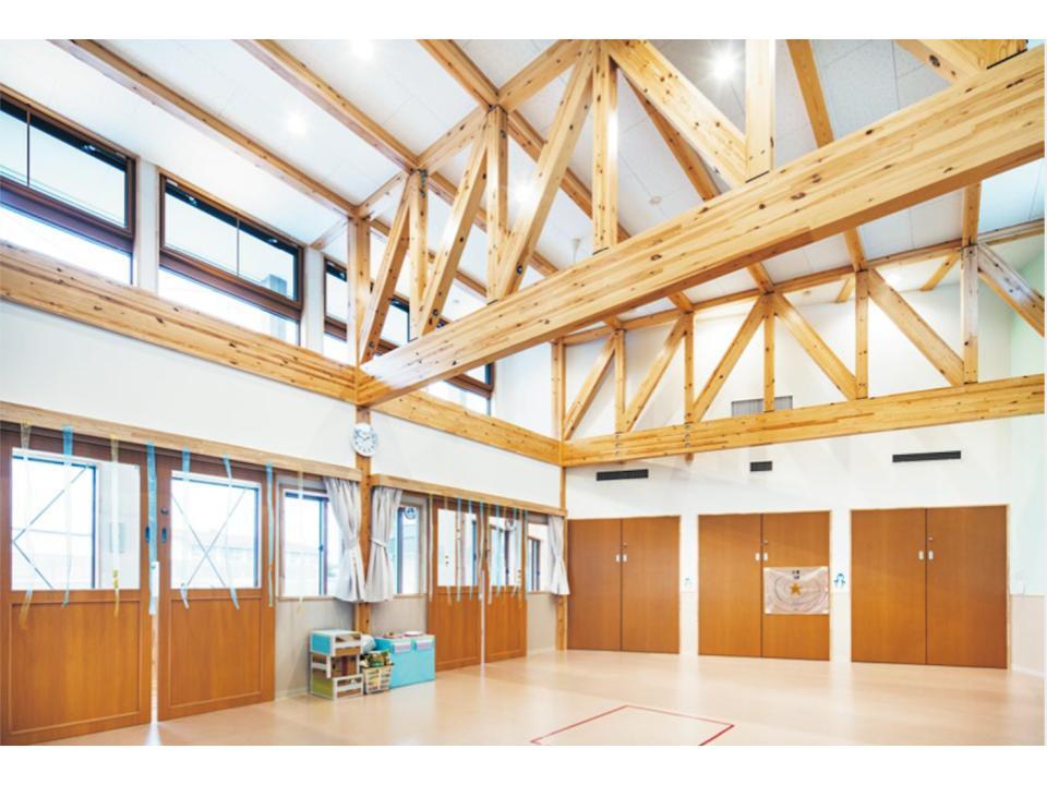 SE構法で実現する木造のトラスによる大空間