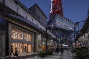 SE構法の店舗、事務所の事例紹介「ANNEX TSUTENKAKU TOWER」