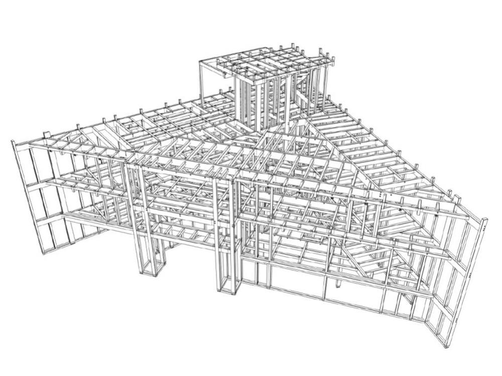 SE構法の事務所「ハウステックス東京本社ビル」の構造設計の特徴